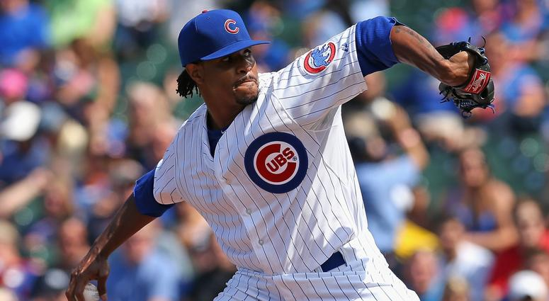 Edwin Jackson with the Cubs in 2014