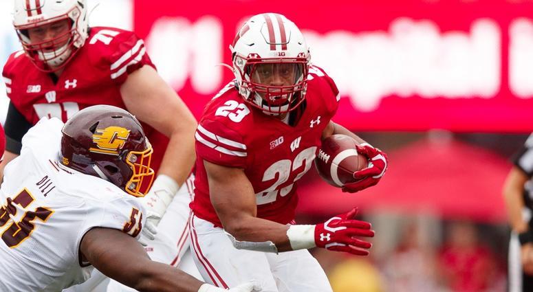 Wisconsin running back Jonathan Taylor