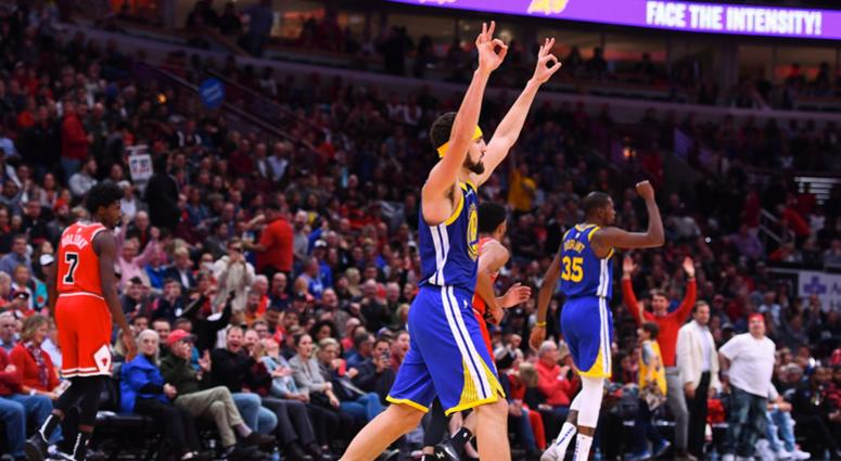 389d45635c7 Klay Thompson Hits Record 14 3s As Warriors Rout Bulls