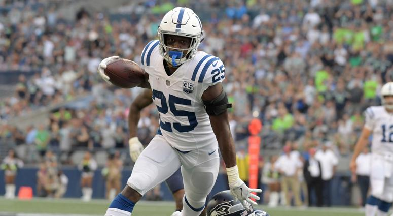 Colts running back Marlon Mack