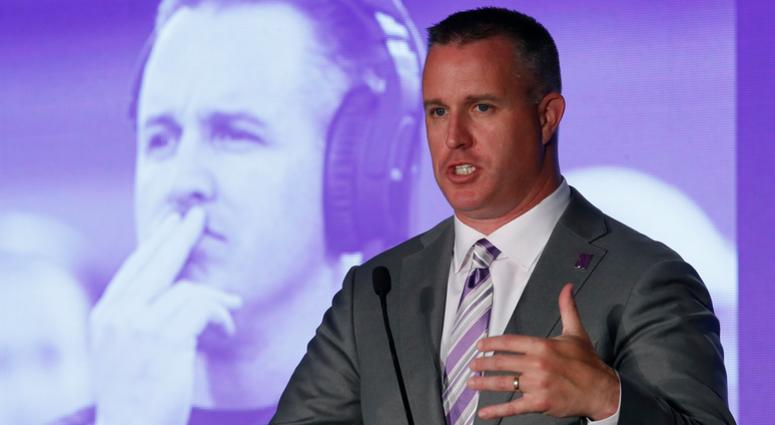Northwestern football coach Pat Fitzgerald