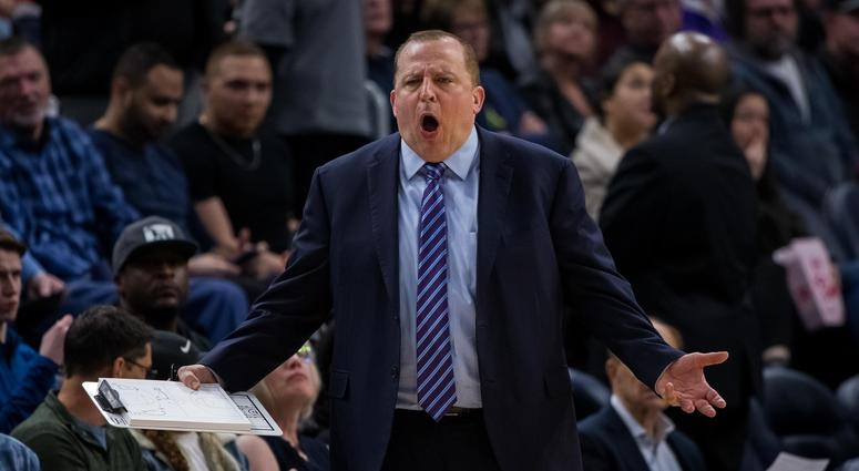 Timberwolves coach Tom Thibodeau