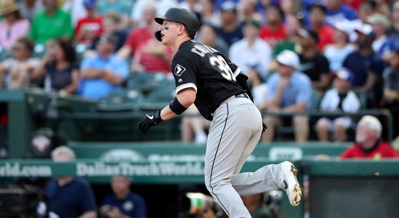 White Sox catcher/designated hitter Zack Collins