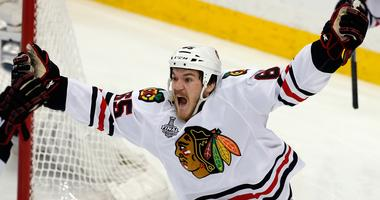 Andrew Shaw with the Blackhawks in 2015