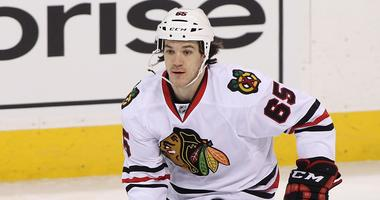 Andrew Shaw with the Blackhawks in 2016