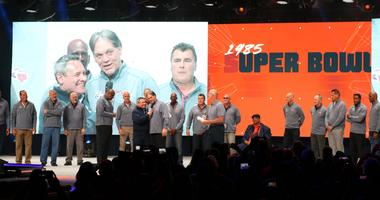 Members of the 1985 Bears took the stage at the Bears100 celebration.