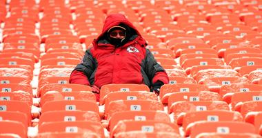Chiefs fan at Arrowhead Stadium
