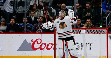 Blackhawks goalie Collin Delia