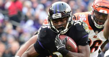 Ravens running back Gus Edwards