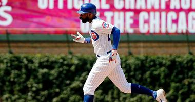 Cubs outfielder Jason Heyward rounds the bases after homering against the Pirates.