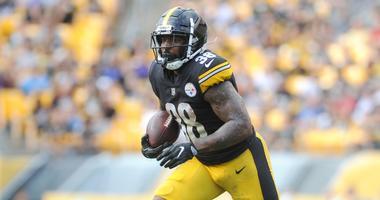 Steelers running back Jaylen Samuels