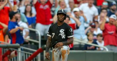 White Sox shortstop Tim Anderson reacts after being caught stealing.