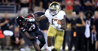 Notre Dame running back Tony Jones Jr.