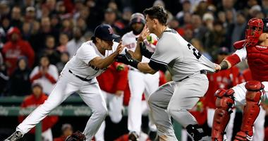 Red Sox reliever Joe Kelly, let, and Yankees first baseman Tyler Austin were at the center of a brawl.