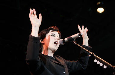 Dolores O'Riordan from The Cranberries performs in 2012