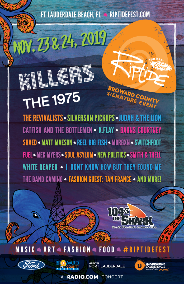 Riptide Music Festival 2019 Lineup! Featuring The Killers, The 1975, The Revivalists and Many More!