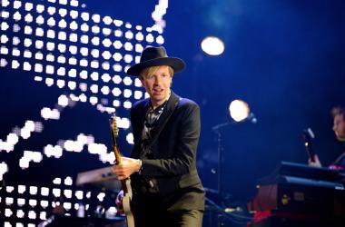 MADRID - SEP 13: Beck (legendary musician, singer and songwriter) performance at Dcode Festival on September 13, 2014 in Madrid, Spain.