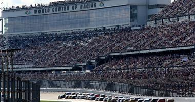 A general view during the Monster Energy NASCAR Cup Series 61st Annual Daytona 500 at Daytona International Speedway on February 17, 2019 in Daytona Beach, Florida.
