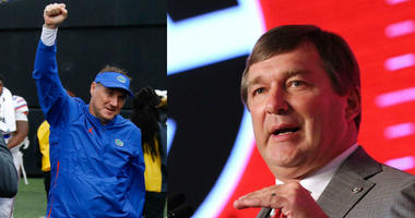 UF's Dan Mullen and UGA's Kirby Smart, SEC football