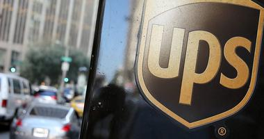 United Parcel Service logo is displayed on a delivery truck
