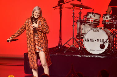 Anne-Marie performs on stage at the 1Live Krone radio award at Jahrhunderthalle on December 6, 2018 in Bochum, Germany