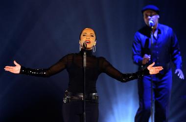 Sade performs at the MGM Grand Garden Arena September 3, 2011 in Las Vegas, Nevada.