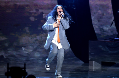 Alessia Cara on stage during the MTV Europe Music Awards