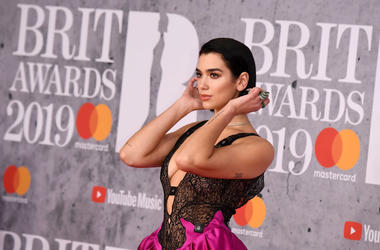Dua Lipa attends The BRIT Awards 2019 held at The O2 Arena on February 20, 2019 in London, England