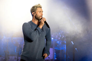Adam Levine of Maroon 5 during the BottleRock Napa Valley Music Festival on May 26, 2017, in Napa, California