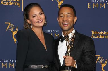 09 September 2018- Los Angeles, California - John Legend, Chrissy Teigen. 2018 Creative Arts Emmy Awards_Press Room held at The Microsoft Theater.