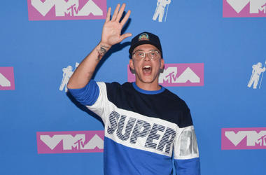 Logic walking on the red carpet at The 2018 MTV Video Music Awards held at Radio City Music Hall in New York, NY on August 20, 2018.