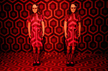 """The Shining"" installation is seen at Ultra Productions and Warner Bros. Consumer Products Special Preview of ""I Like Scary Movies"" an Interactive Art Installation by Maximillian at The Desmond on April 02, 2019 in Los Angeles, California."