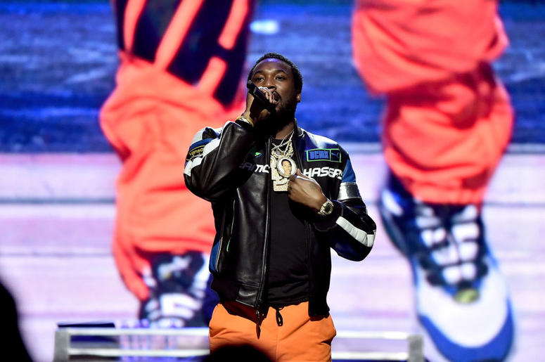 NEW YORK, NY - OCTOBER 23: Meek Mill performs onstage during the 4th Annual TIDAL X: Brooklyn at Barclays Center of Brooklyn on October 23, 2018 in New York City.