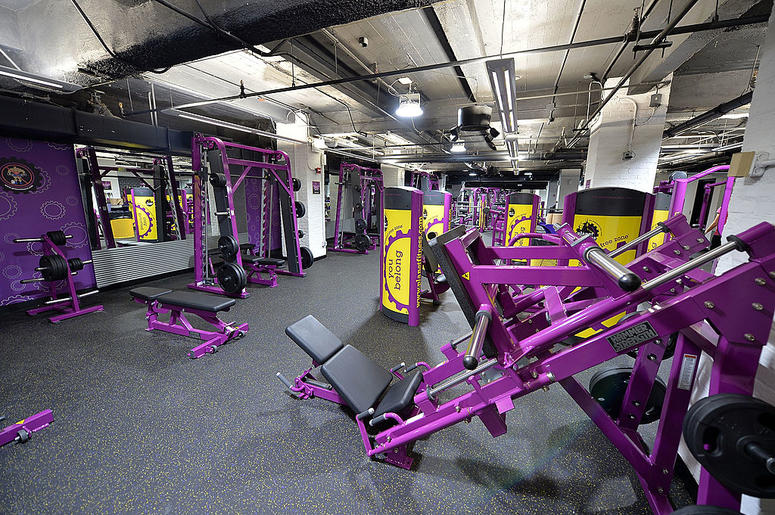 NEW YORK, NY - SEPTEMBER 16: Planet Fitness Wall Street Grand Opening interior general view of Planet Fitness - Wall Street on September 16, 2013 in New York City.