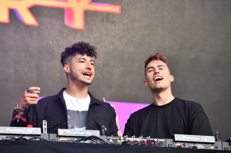 WANTAGH, NEW YORK - JUNE 15: Joe Depace and Andrew Fedyk of Loud Luxury perform onstage during 2019 103.5 KTU KTUphoria presented by Pepsi at Northwell Health at Jones Beach Theater on June 15, 2019 in Wantagh, New York.