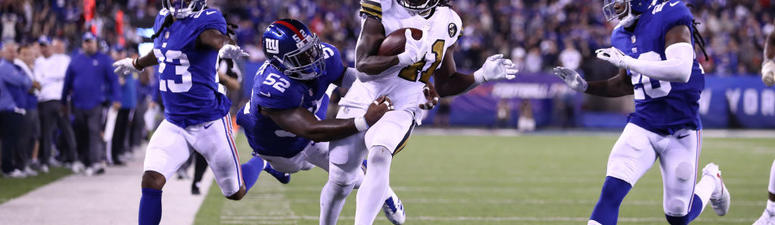 Kamara Runs For 3 Second-Half TDs, Saints Beat Giants 33-18