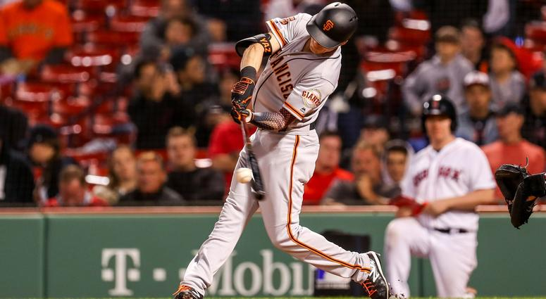 Yaz's grandson Mike hits HR; Giants beat Red Sox 7-6 in 15