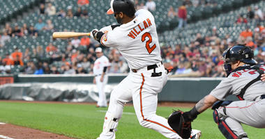 Villar for Victory over Red Sox