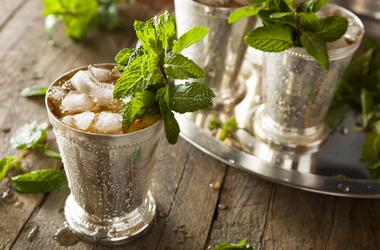 a Mint Julep cocktail
