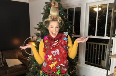 Lauren Alaina's Cindy Lou's inspired ugly sweater