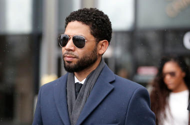 MARCH 14: Actor Jussie Smollett leaves Leighton Criminal Courthouse after his court appearance on March 14, 2019 in Chicago, Illinois. Smollett stands accused of arranging a homophobic, racist attack against himself in an attempt to raise his profile beca