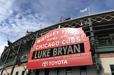 Luke Bryan | Wrigley Field Sign