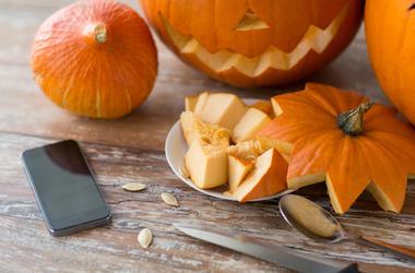 iPhone and Pumpkin