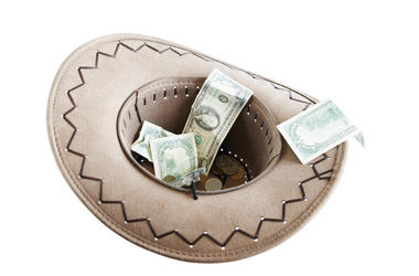 Cowboy Hat With $$