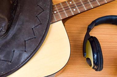 Cowboy Hat Guitar Headphones