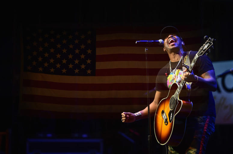 Jimmie Allen performs during ACM Lifting Lives Presents: Borderline Strong Concert at Thousand Oaks Civic Arts Plaza on February 11, 2019 in Thousand Oaks, California.