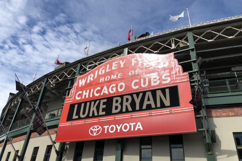 Luke Bryan | Wrigley Field Sign