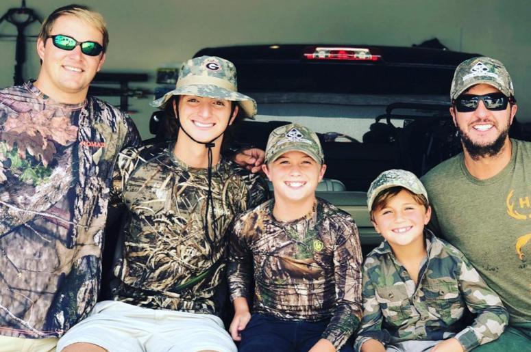 Luke Bryan & his family