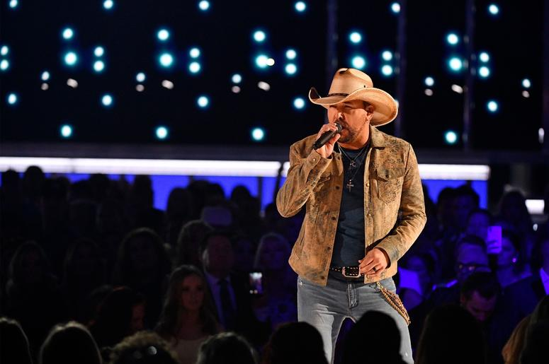 Jason Aldean performs during the 2019 ACM awards.