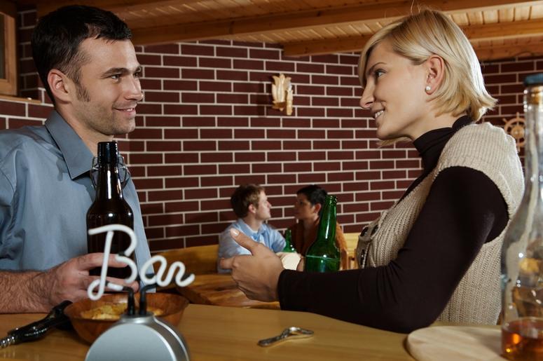 Couple At A Bar